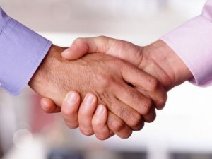 Picture of a Business Intelligence Professional shaking hands